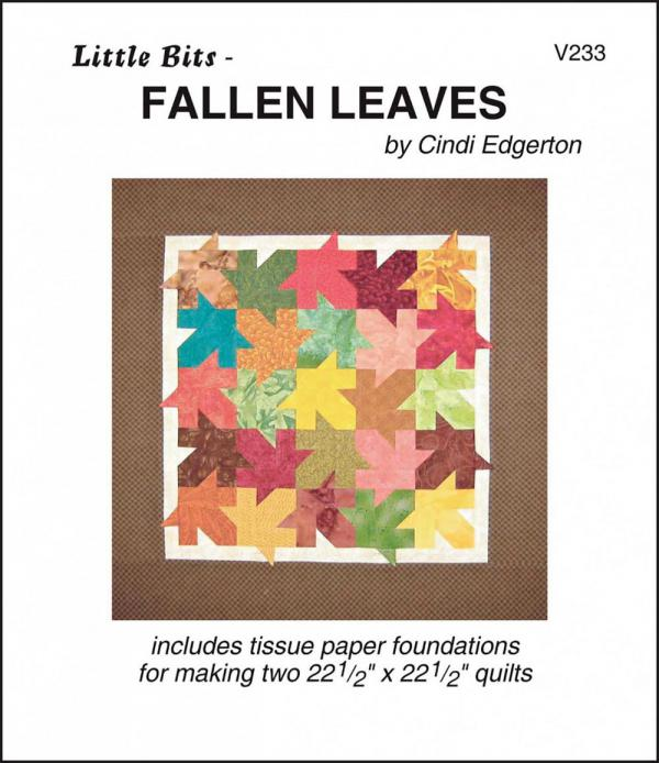 Little-Bits-Fallen-Leaves-quilt-sewing-pattern-Cindi-Edgerton-front