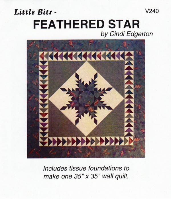 Little Bits - Feathered Star quilt sewing pattern from Cindi Edgerton