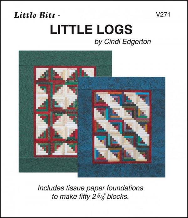 Little Bits - Little Logs quilt sewing pattern from Cindi Edgerton