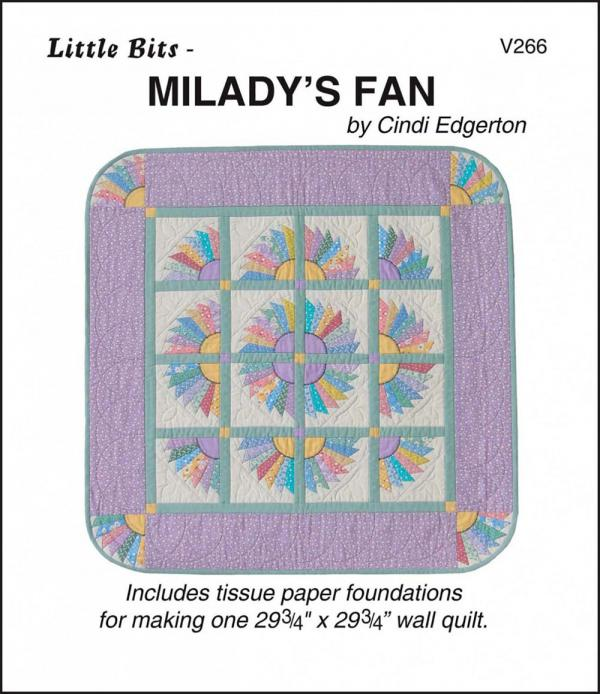 Little Bits - Milady's Fan quilt sewing pattern from Cindi Edgerton