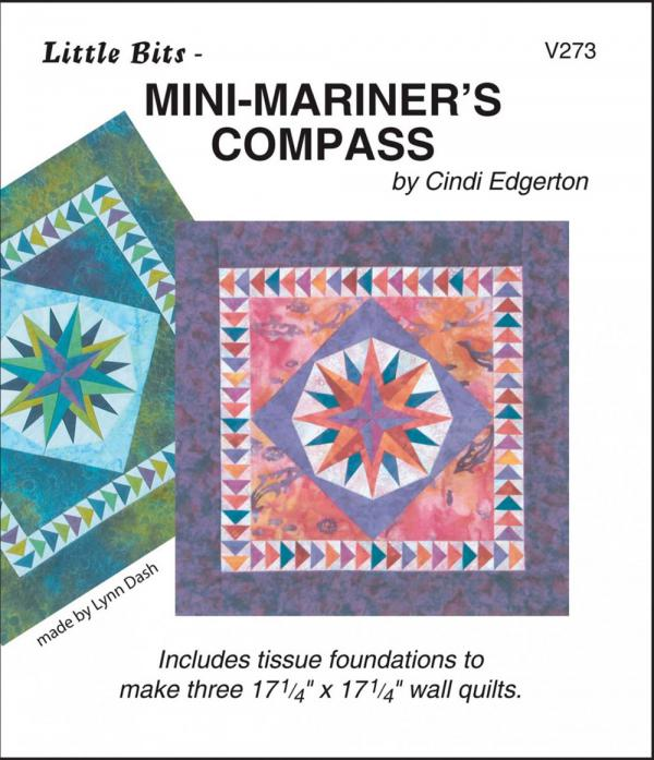 Little Bits - Mini Mariners Compass quilt sewing pattern from Cindi Edgerton