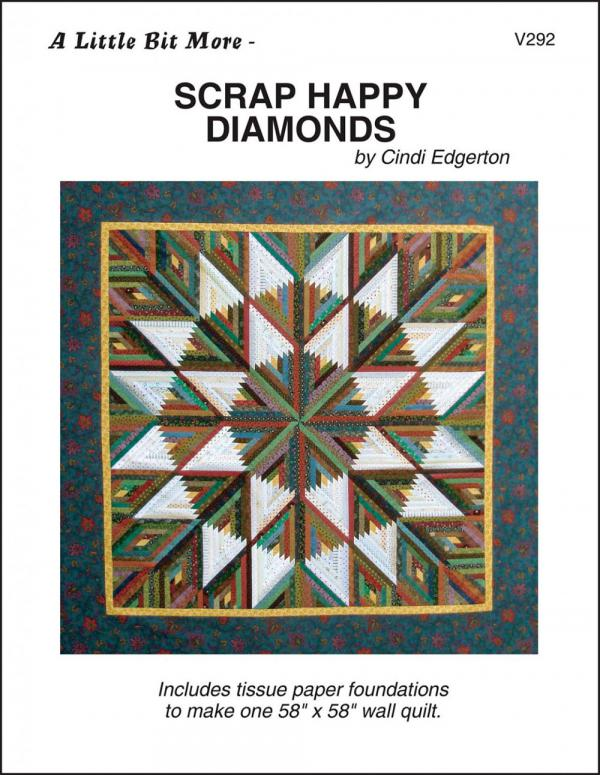 Little-Bits-More-Scrap-Happy-Diamonds-quilt-sewing-pattern-Cindi-Edgerton-front
