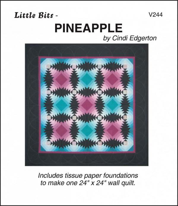 Little Bits - Pineapple quilt sewing pattern from Cindi Edgerton