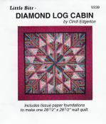 Little Bits - Diamond Log Cabin quilt sewing pattern from Cindi Edgerton