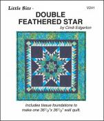 Little Bits - Doubled Feathered Star quilt sewing pattern from Cindi Edgerton