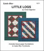 Little-Bits-Little-Logs-quilt-sewing-pattern-Cindi-Edgerton-front