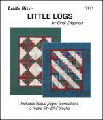 Little-Bits-Little-Logs-quilt-sewing-pattern-Cindi-Edgerton-front