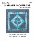Little Bits - Mariners Compass quilt sewing pattern from Cindi Edgerton