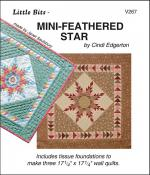 Little Bits - Mini Feathered Star quilt sewing pattern from Cindi Edgerton
