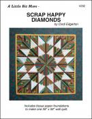 A Little Bit More - Scrap Happy Diamonds quilt sewing pattern from Cindi Edgerton