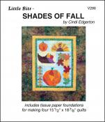Little Bits - Shades Of Fall quilt sewing pattern from Cindi Edgerton