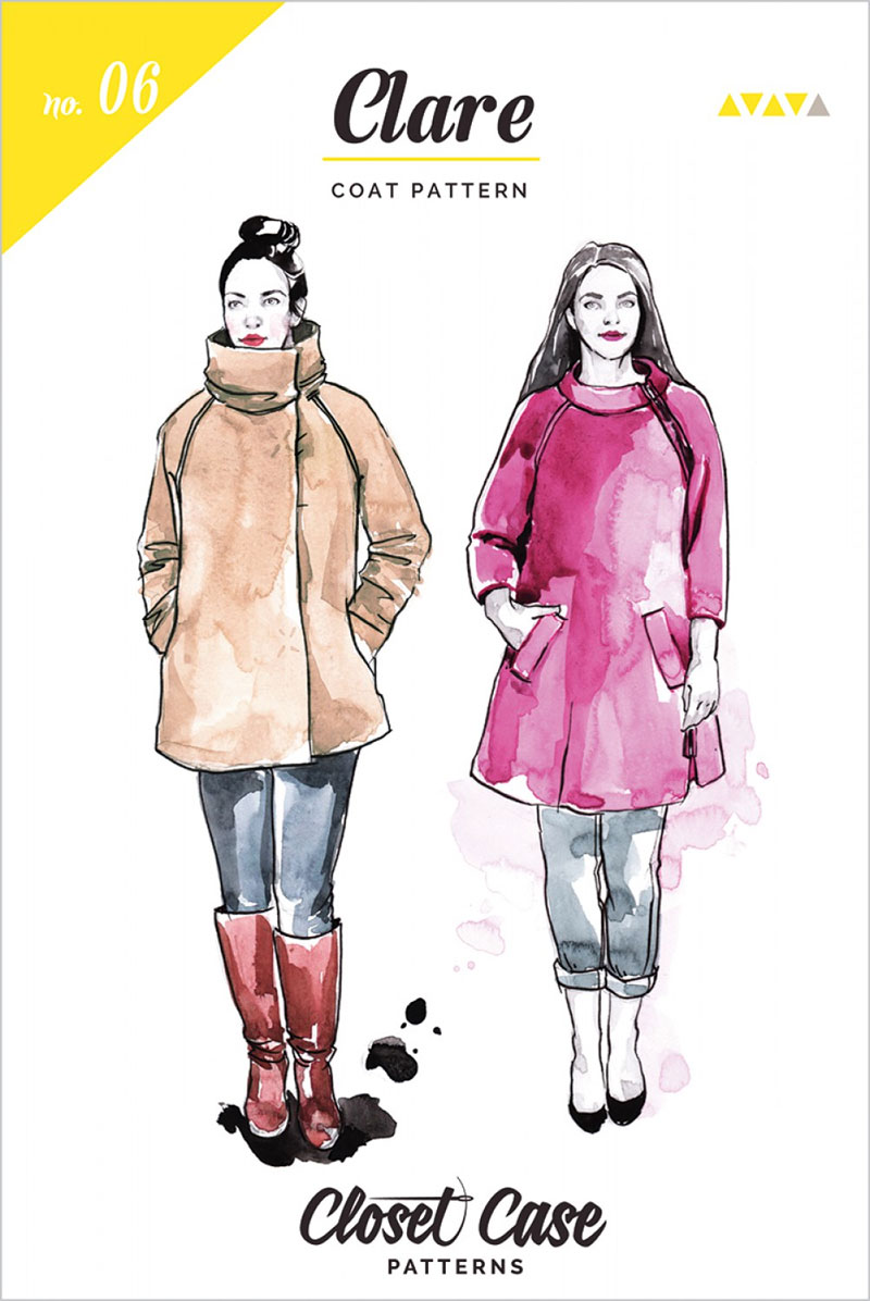 Clare Coat sewing pattern from Closet Case Patterns