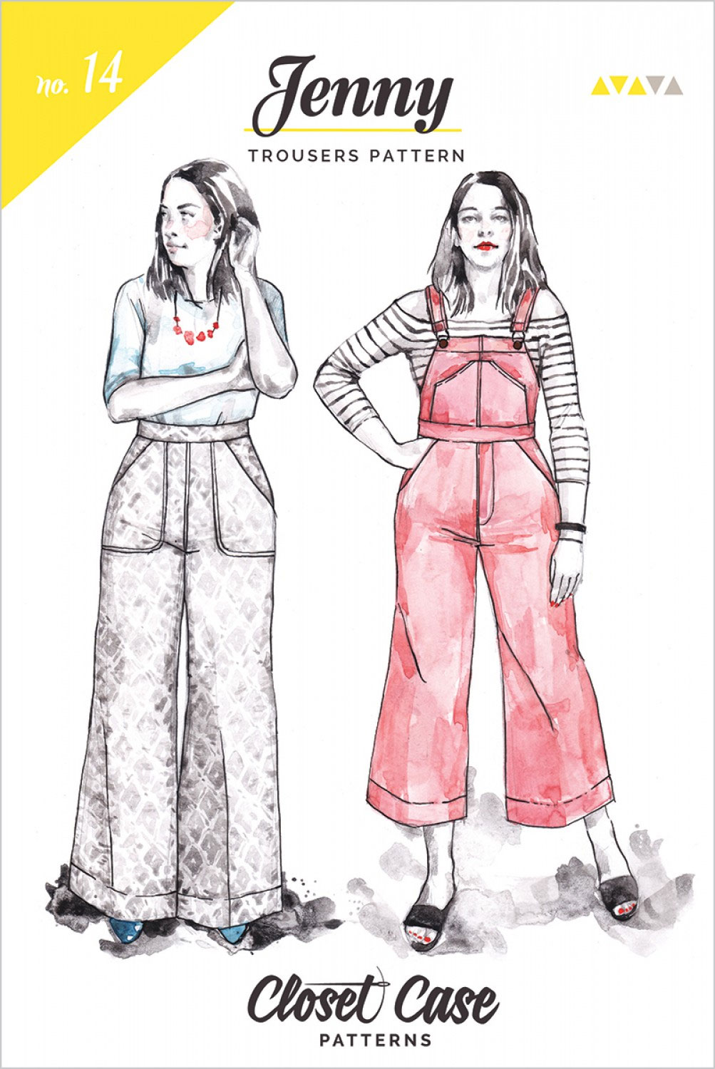 Jenny-Overalls-Trousers-sewing-pattern-from-Closet-Case-front
