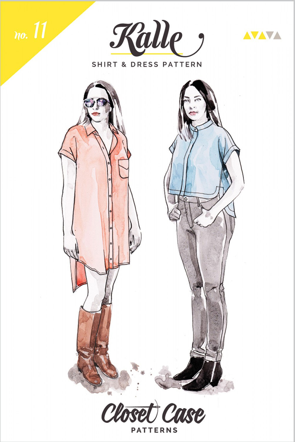 Kalle-Shirt-sewing-pattern-from-Closet-Case-front