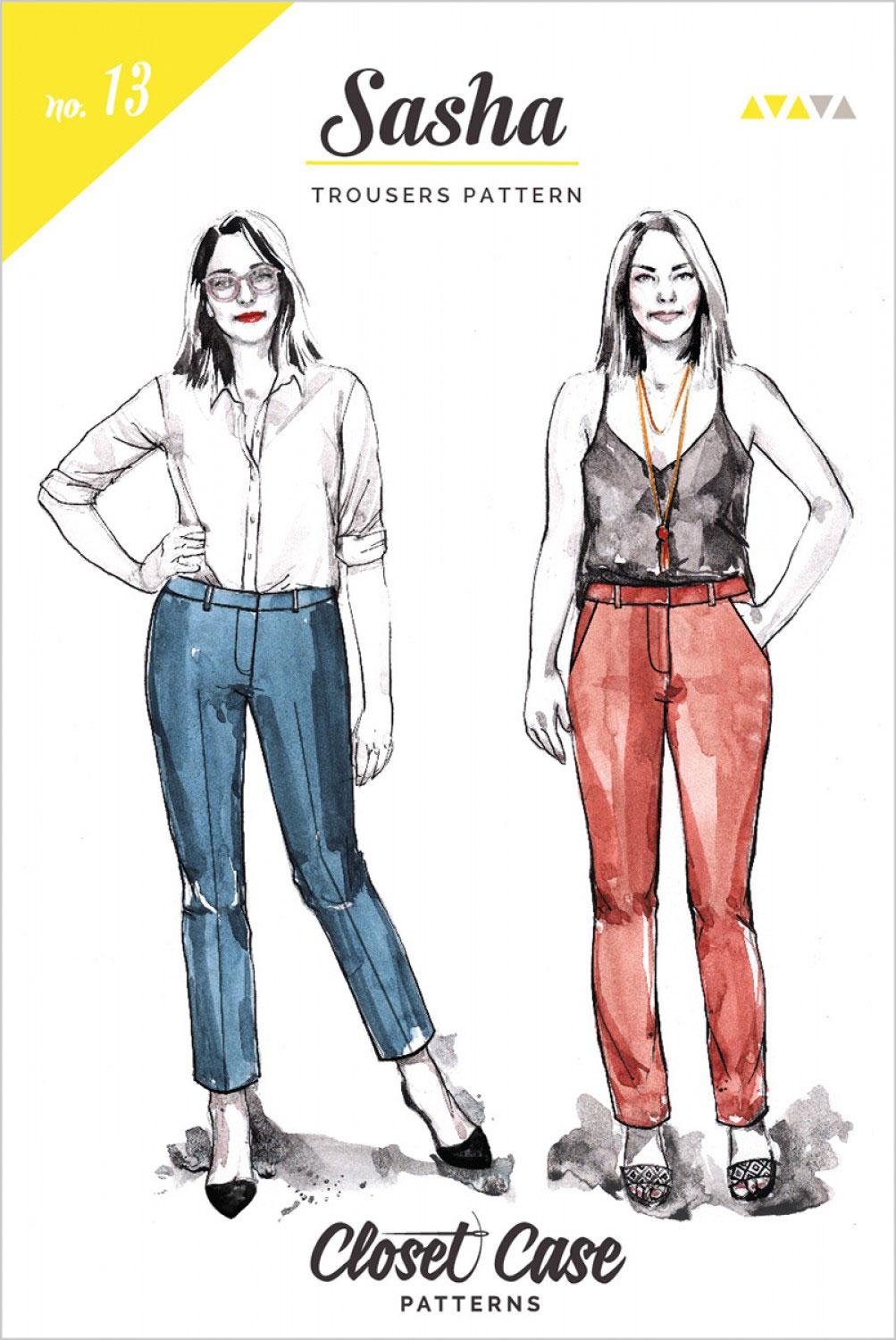 Sasha-Trousers-sewing-pattern-from-Closet-Case-front