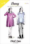 Ebony Knit Dress & T-Shirt sewing pattern from Closet Case Patterns