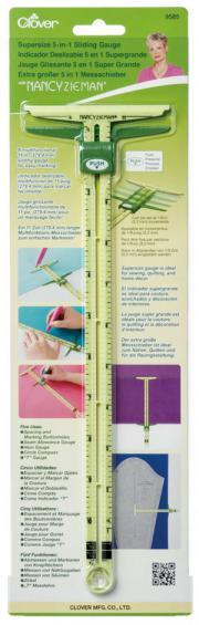 Supersize-5-in-1-sliding-gauge-ruler-Nancy-Zieman-Clover-front