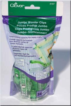 Wonder Clips Jumbo 24 count - Clover #3157