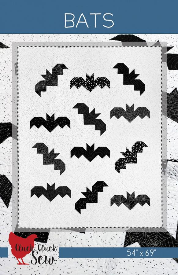 Bats quilt sewing pattern from Cluck Cluck Sew