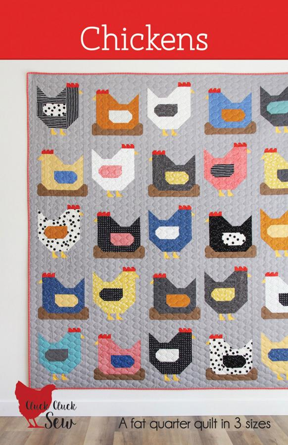 Chickens quilt sewing pattern from Cluck Cluck Sew