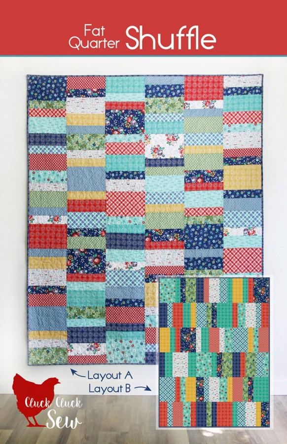 Fat Quarter Shuffle quilt sewing pattern from Cluck Cluck Sew