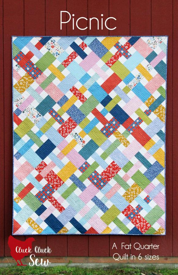 INVENTORY REDUCTION...Picnic quilt sewing pattern from Cluck Cluck Sew