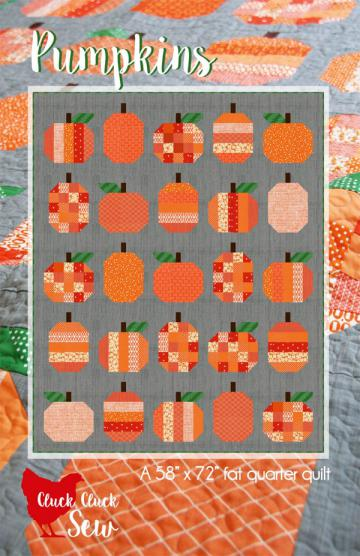 Pumpkins quilt sewing pattern from Cluck Cluck Sew