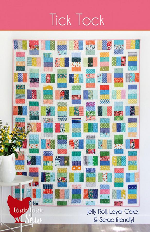Tick Tock quilt sewing pattern from Cluck Cluck Sew
