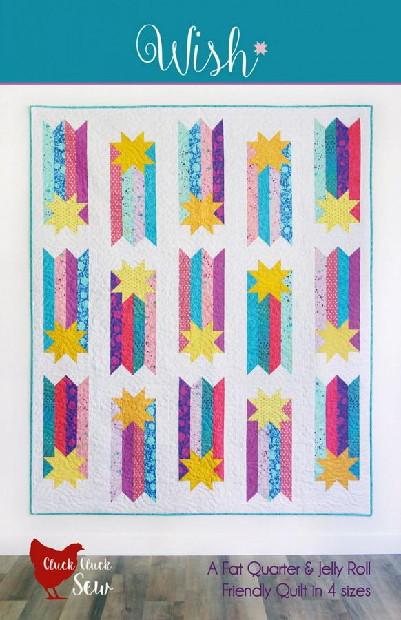 Wish quilt sewing pattern from Cluck Cluck Sew