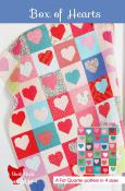 Box Of Hearts quilt sewing pattern from Cluck Cluck Sew