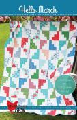Hello March quilt sewing pattern from Cluck Cluck Sew
