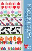 Modern Holiday table runners sewing pattern from Cluck Cluck Sew