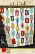 Off Track quilt sewing pattern from Cluck Cluck Sew