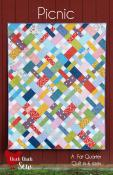 PRE-RELEASE SPECIAL (expires at 11:59PM ET on 5/20/2021. Estimated shipping date 5/28/2021...see details in product description)...Picnic quilt sewing pattern from Cluck Cluck Sew