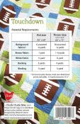Touchdown quilt sewing pattern from Cluck Cluck Sew 1