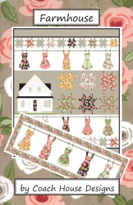 Farmhouse quilt sewing pattern from Coach House Designs