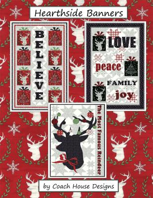 Hearthside Banners quilt sewing pattern from Coach House Designs