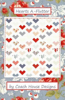 Hearts A Flutter quilt sewing pattern from Coach House Designs