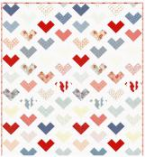 Hearts A Flutter quilt sewing pattern from Coach House Designs 2