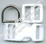 Small Dog Collar Hardware -- WHITE