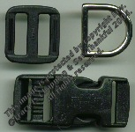 Small Dog Collar Hardware -- BLACK