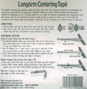 LongArm Centering Tape from Colonial Needle 1