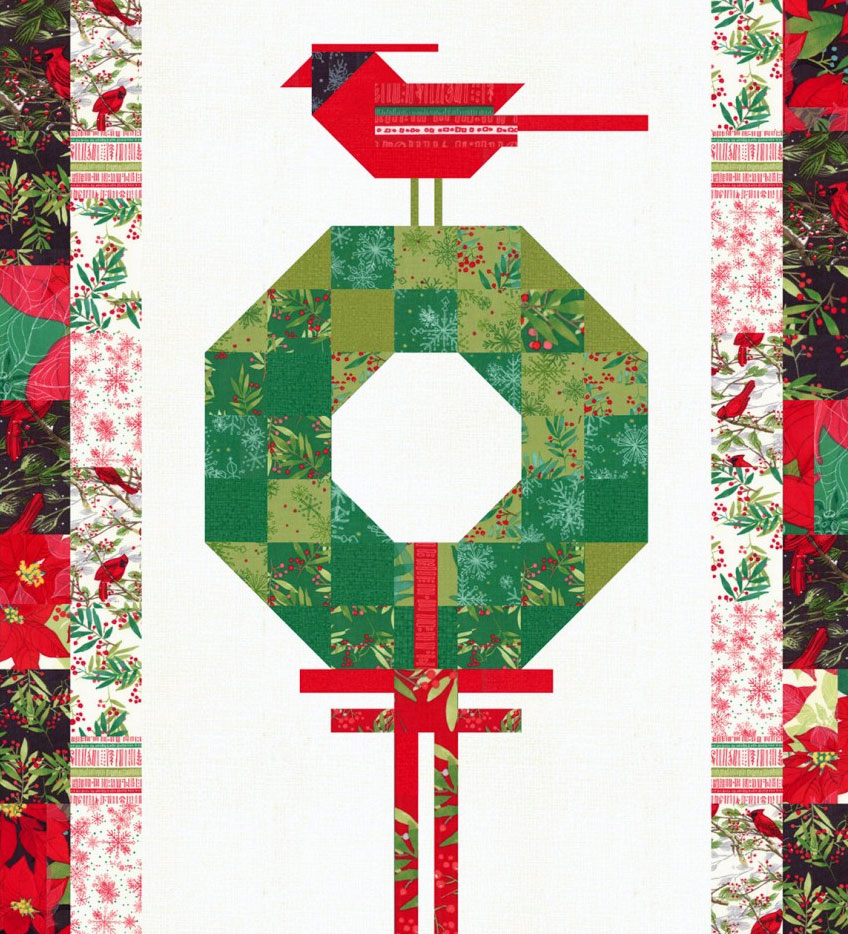 Cardinals-Christmas-Wreath-quilt-sewing-pattern-color-and-quilt-1