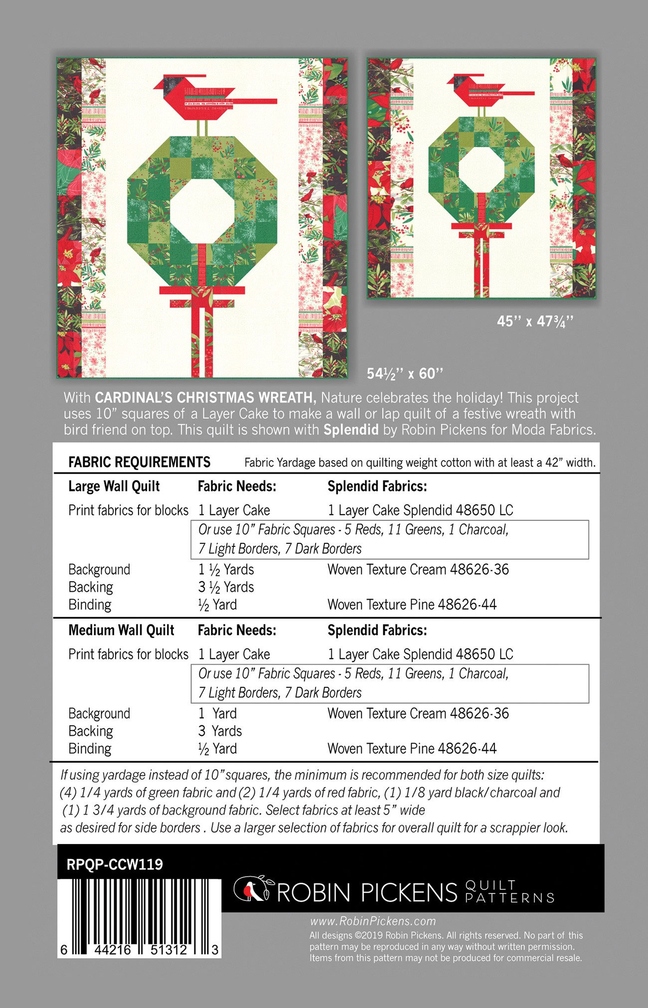 Cardinals-Christmas-Wreath-quilt-sewing-pattern-color-and-quilt-back
