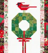 Cardinal's Christmas Wreath quilt sewing pattern by Robin Pickens 2