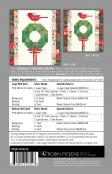 Cardinal's Christmas Wreath quilt sewing pattern by Robin Pickens 1