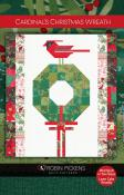 Cardinal's Christmas Wreath quilt sewing pattern by Robin Pickens