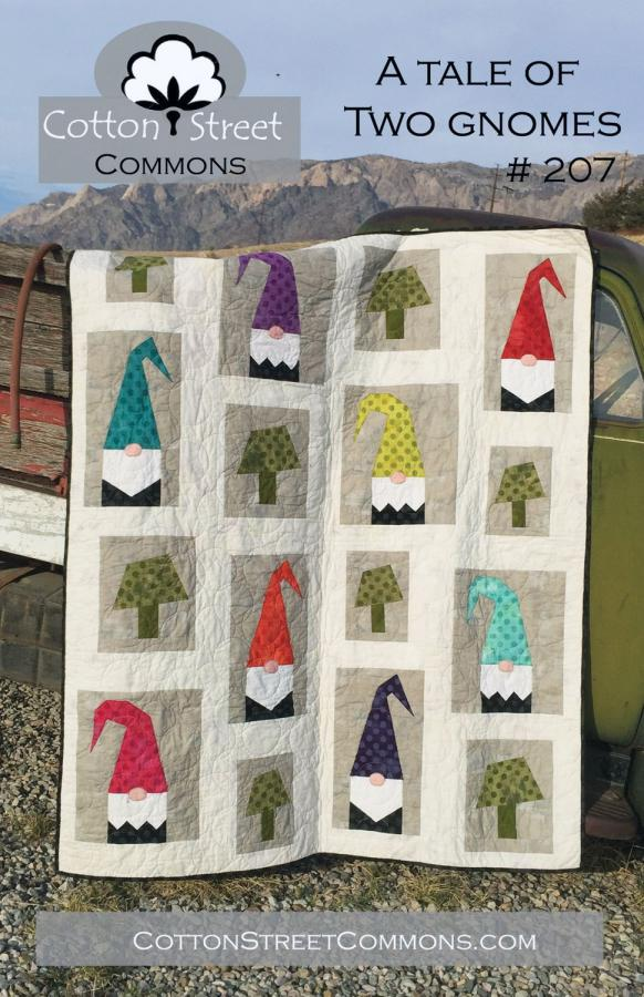 A Tale of Two Gnomes quilt sewing pattern from Cotton Street Commons