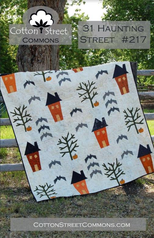 Haunting Street quilt sewing pattern from Cotton Street Commons
