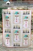Do You Want To Sew a Snowman quilt sewing pattern from Cotton Street Commons